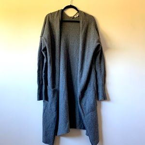 Garage Knit Grey Long Cardigan